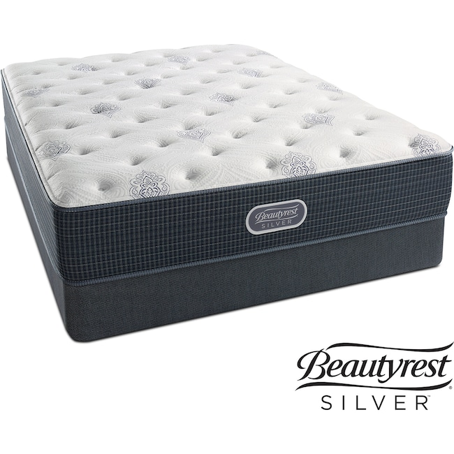 Mattresses and Bedding - Urban Mist Plush Full Mattress and Low-Profile Foundation Set