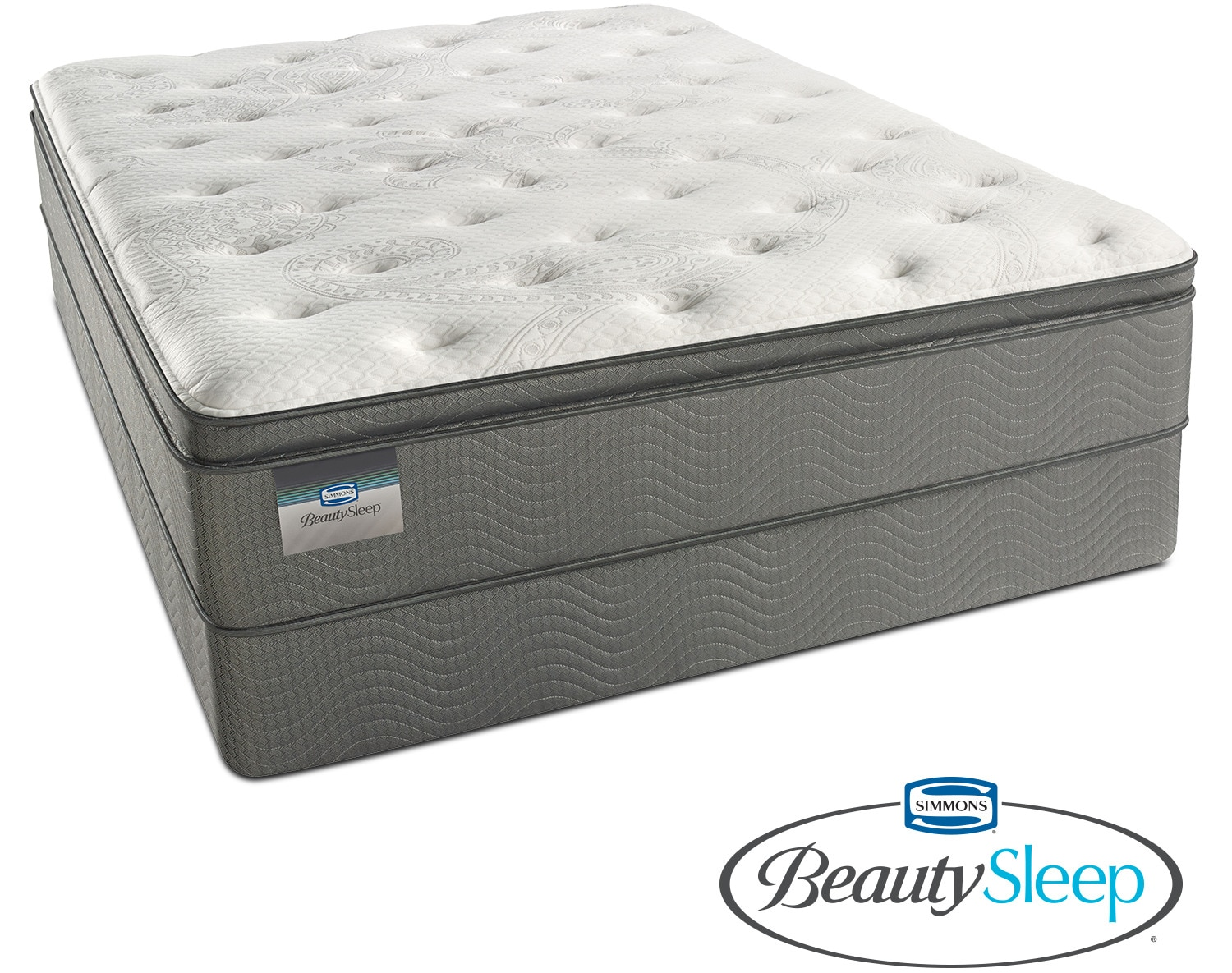 Mattresses and Bedding - Stags Leap Luxury Firm Pillowtop Queen Mattress and Low-Profile Foundation Set