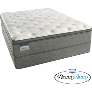 Stags Leap Luxury Firm Pillowtop Queen Mattress and Low-Profile Foundation Set