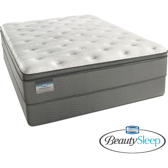 Mattresses and Bedding - Stags Leap Luxury Firm Pillowtop Full Mattress and Low-Profile Foundation Set