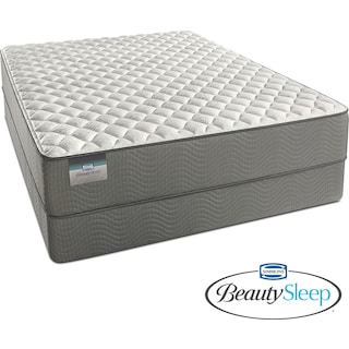 Alpine White Firm Full Mattress and Low-Profile Foundation Set