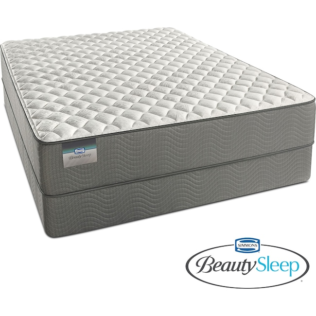Mattresses and Bedding - Alpine White Firm Twin Mattress and Foundation Set