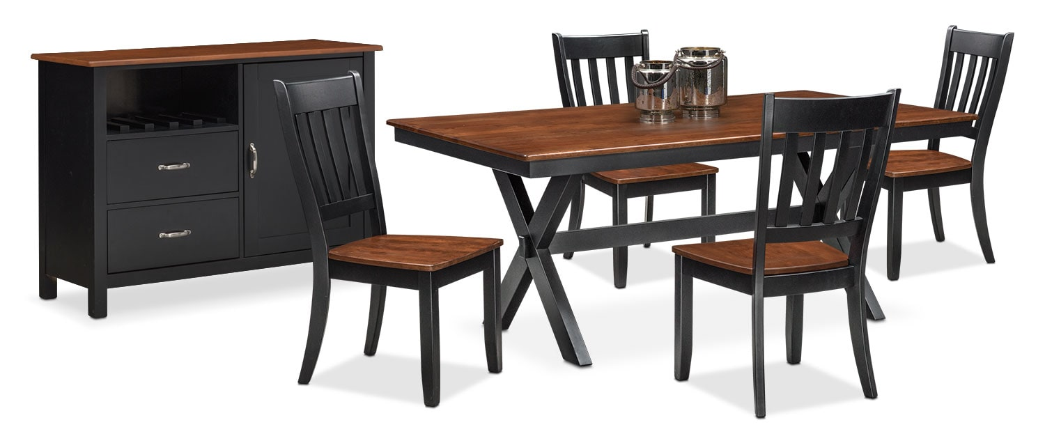 The Nantucket Dining Collection - Black and Cherry | Value City ...