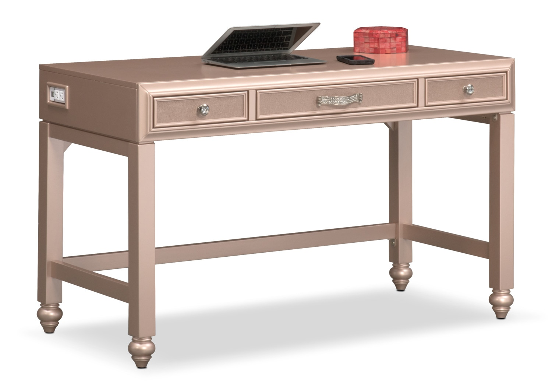 Serena Vanity Desk - Rose Quartz
