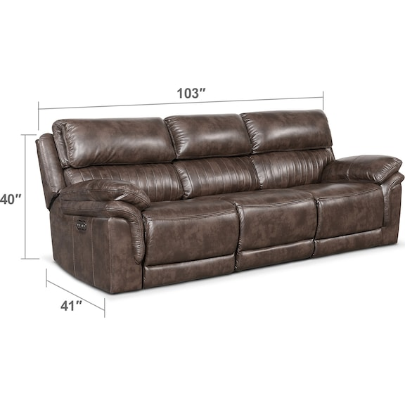 Living Room Furniture - Monterey 3-Piece Power Reclining Sofa