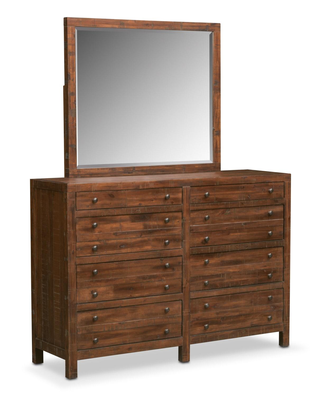 Ryder 6-Piece Queen Bedroom Set - Mahogany | Value City Furniture ...