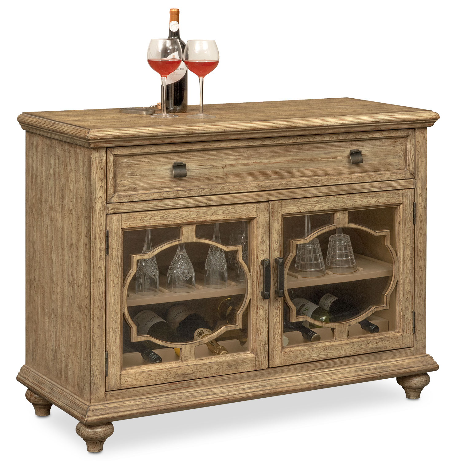 Accent and Occasional Furniture - Mayfair Wine Cabinet - Natural