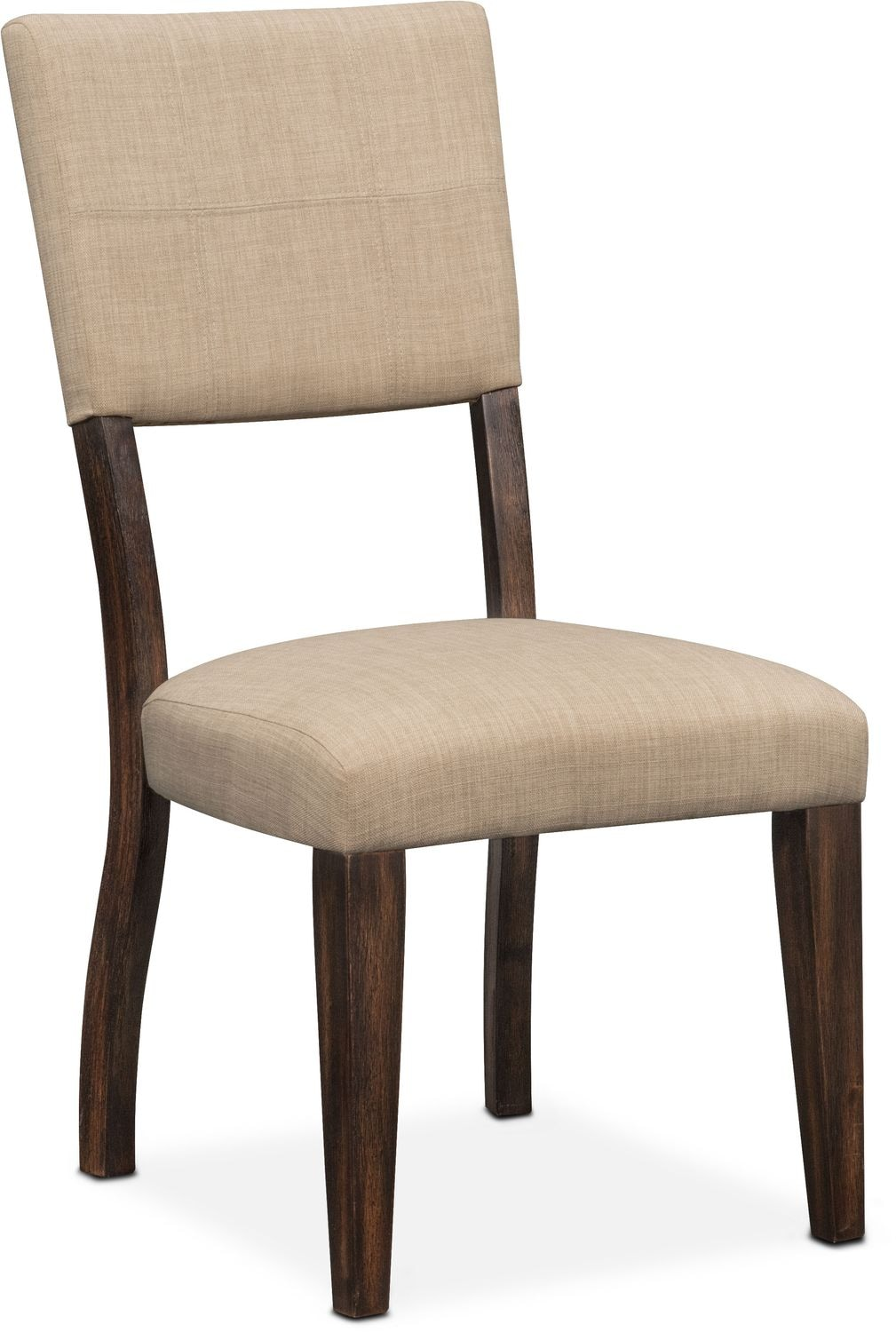 Tribeca Table And 6 Upholstered Side Chairs Tobacco