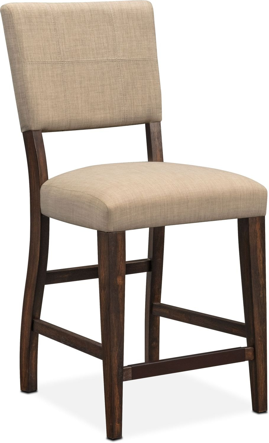 Dining Room Furniture - Tribeca Counter-Height Upholstered Side Chair - Tobacco