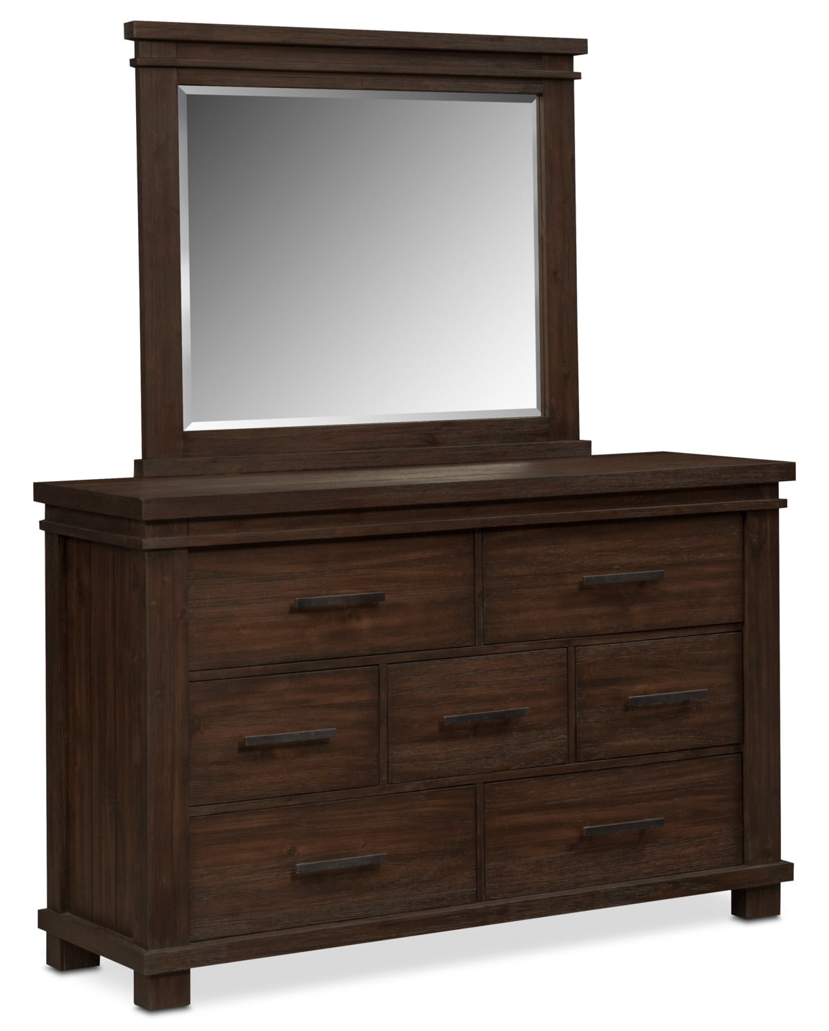tribeca dresser and mirror tobacco value city furniture