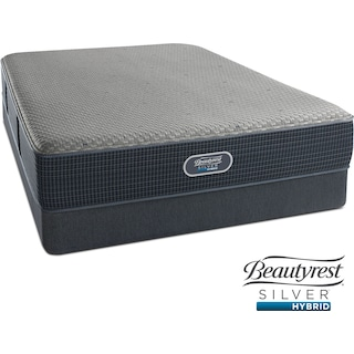 Gulf Shores Luxury Firm Queen Mattress and Low-Profile Foundation Set
