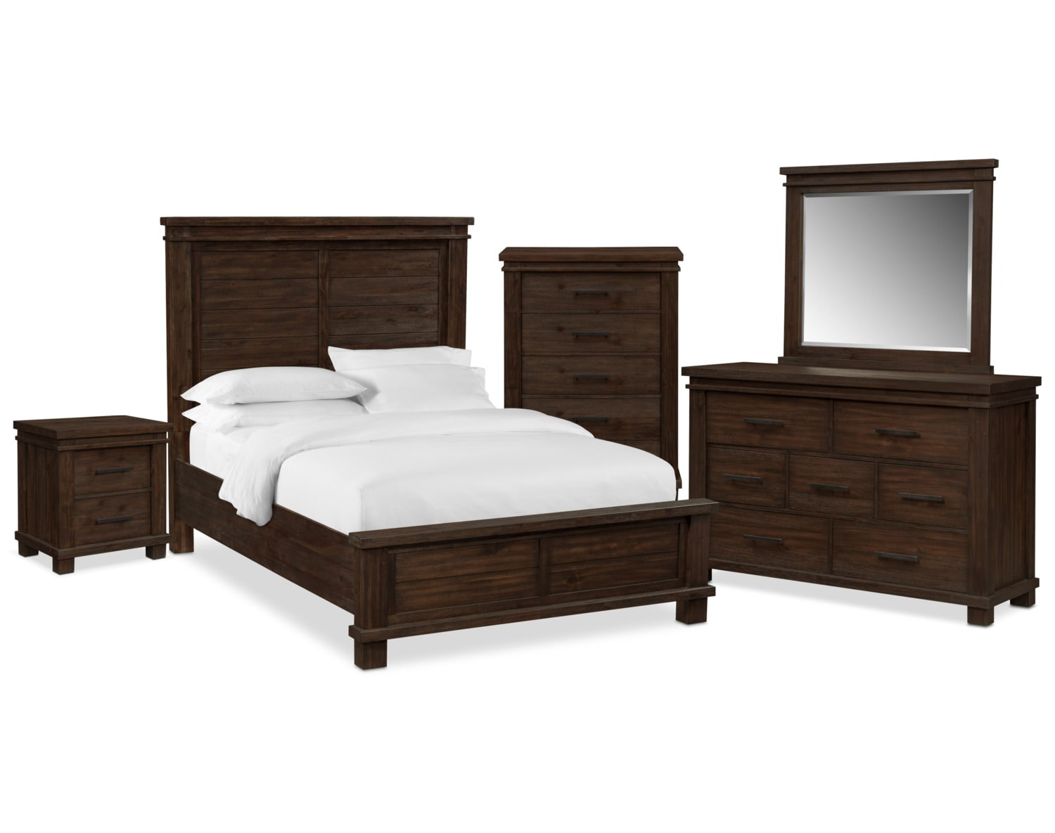 the tribeca bedroom collection tobacco value city