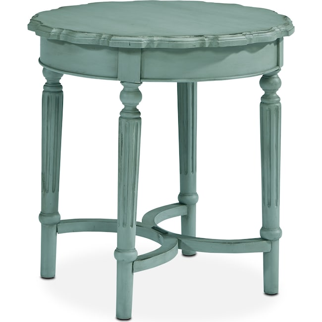 Accent and Occasional Furniture - French Pie Crust Short Table - French Blue