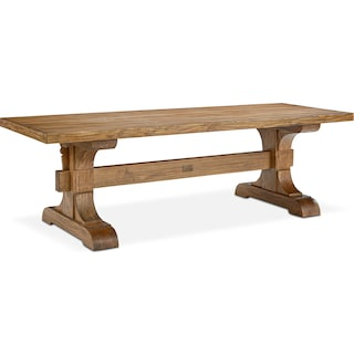 Farmhouse Keyed Trestle Dining Table