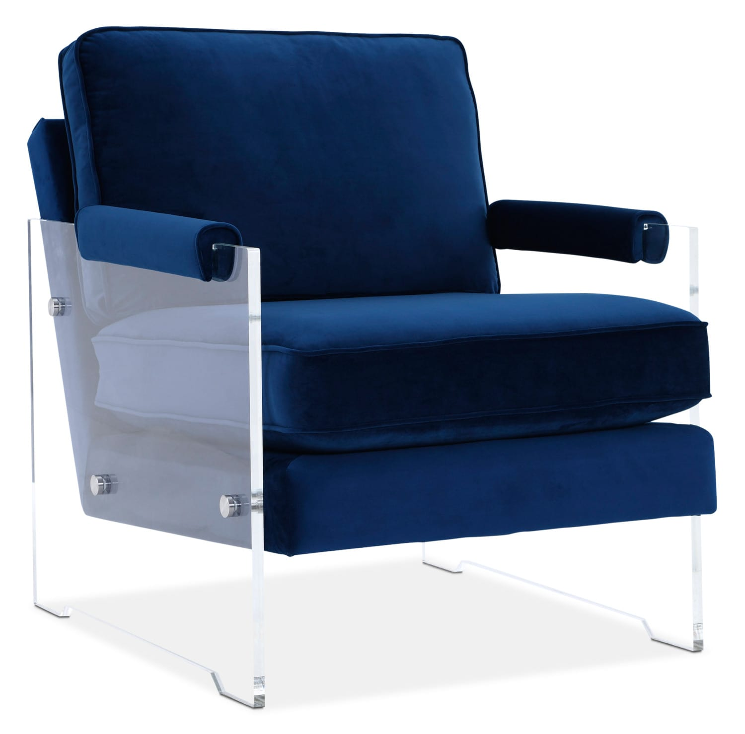 Living Room Furniture - Lexi Accent Chair - Blue