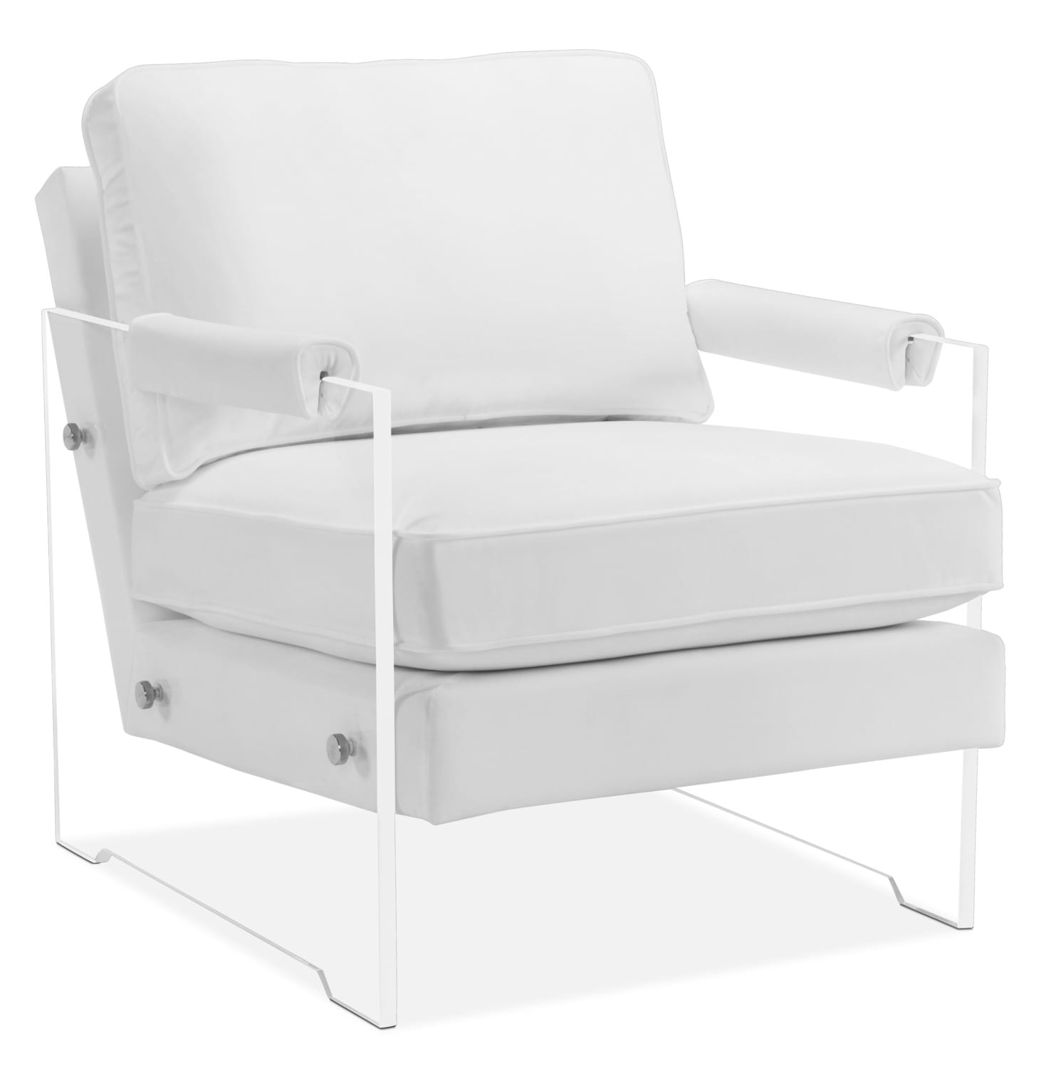 lexi accent chair white accent and occasional furniture lexi accent chair white