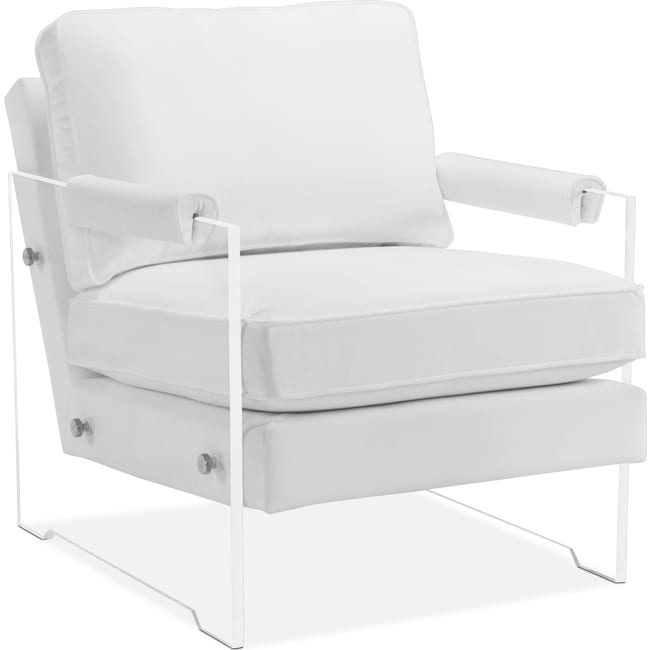 Living Room Furniture - Lexi Accent Chair - White