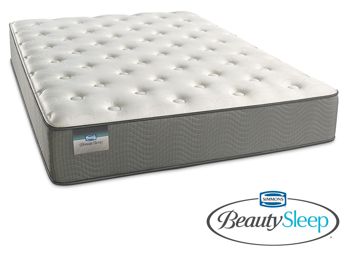 Mattresses and Bedding - French Grey Plush Queen Mattress