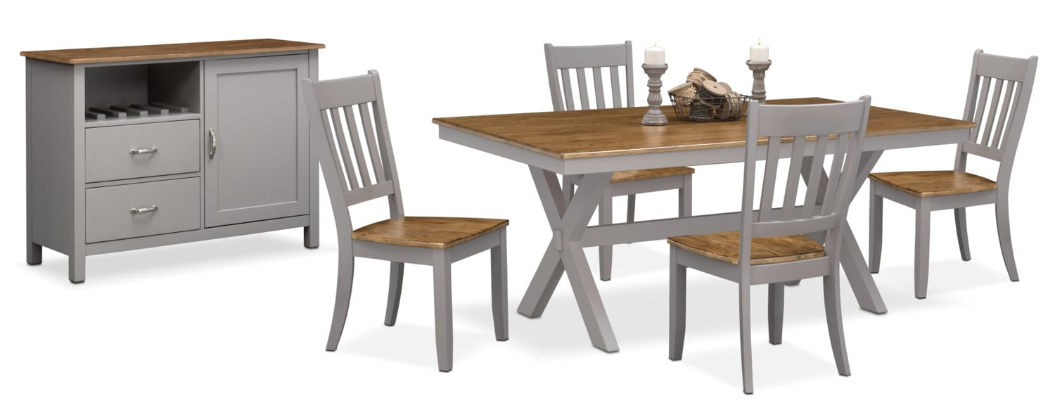 The Nantucket Dining Collection   Oak And Gray