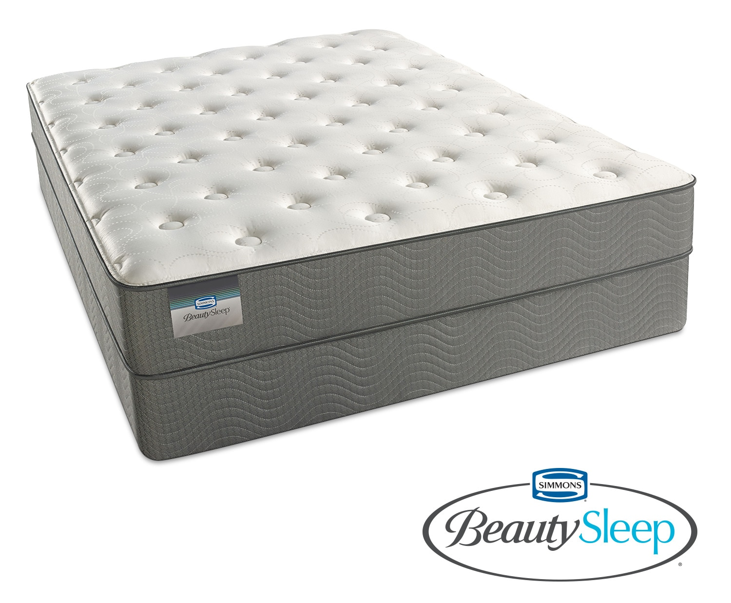 Mattresses and Bedding - Sapphire Blue Luxury Firm Full Mattress and Low-Profile Foundation Set