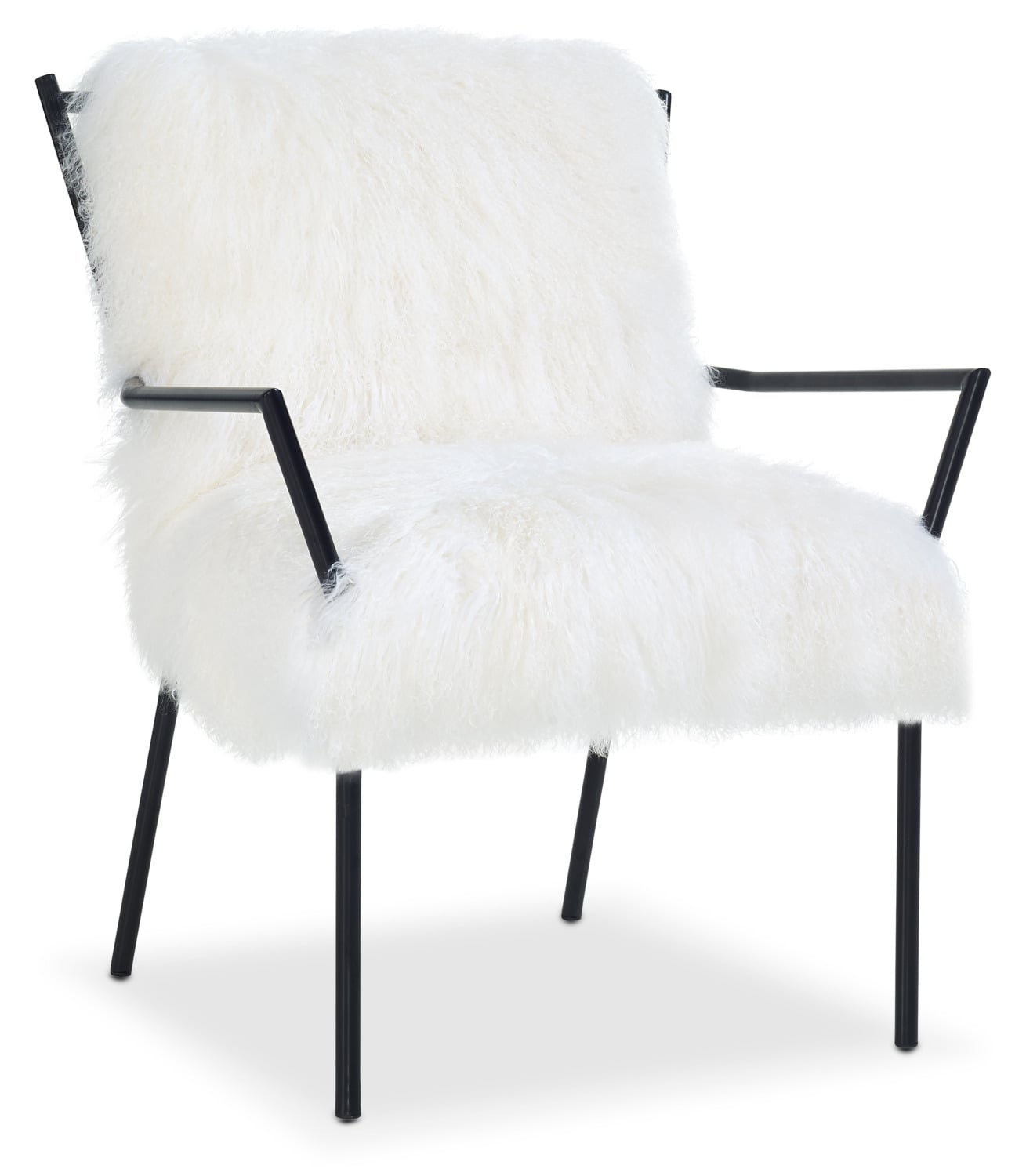 Lara Accent Chair - Black and White