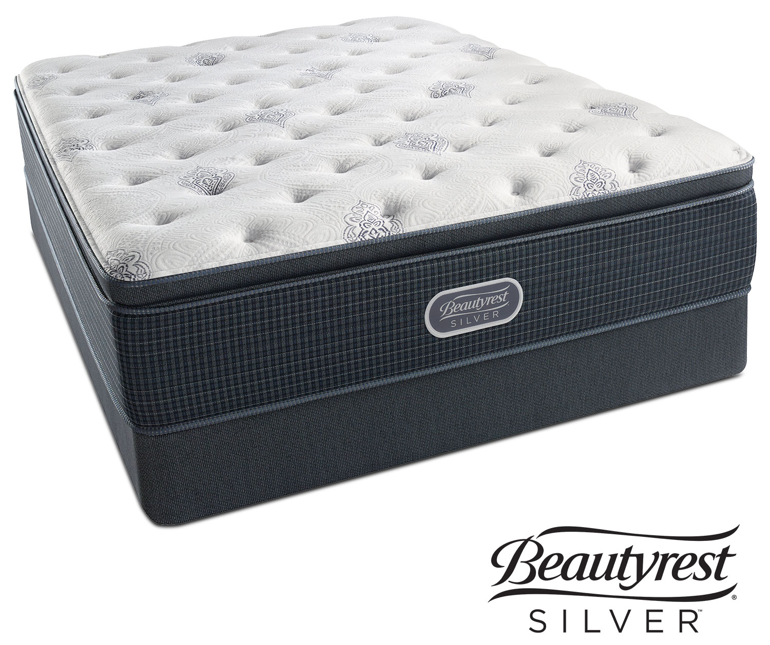 White River Plush Pillowtop Queen Mattress And Foundation