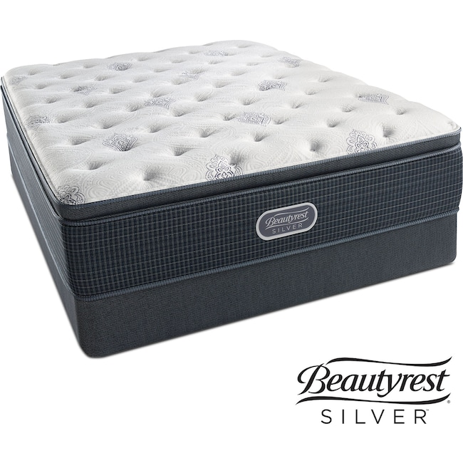 Mattresses and Bedding - White River Plush Pillowtop King Mattress and Split Foundation Set