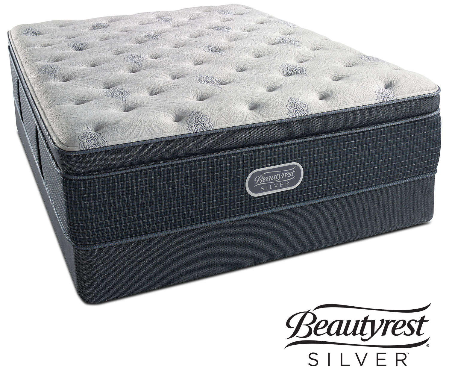 Crystal Ridge Luxury Firm Pillowtop Queen Mattress and Foundation Set