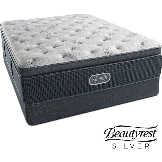 Mattresses and Bedding - Crystal Ridge Plush Pillowtop Queen Mattress and Low-Profile Foundation Set