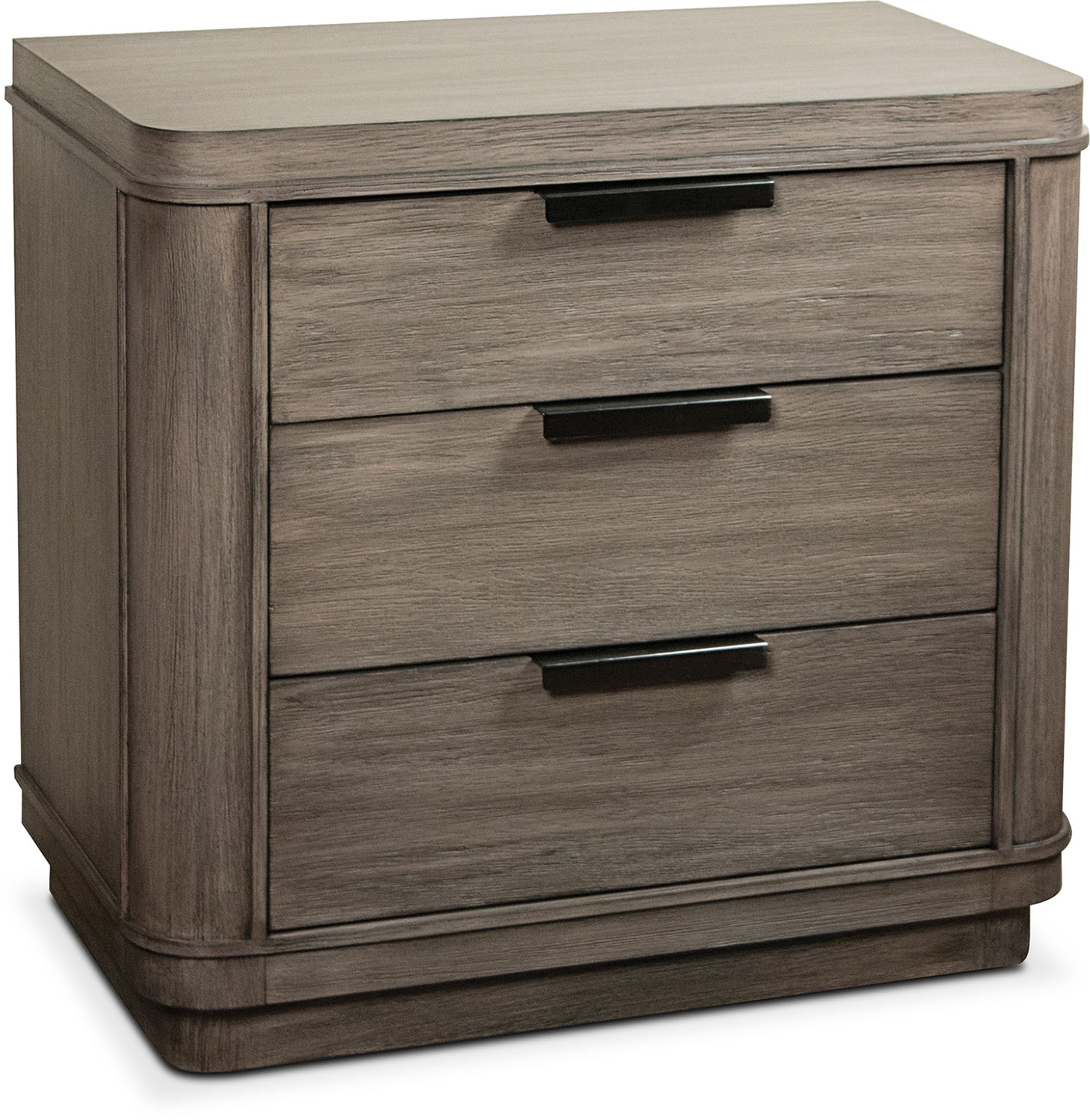 Bedroom Furniture - Malibu Nightstand - Gray