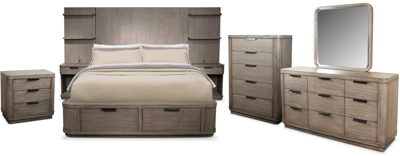The Malibu Tall Storage Bedroom Collection - Gray