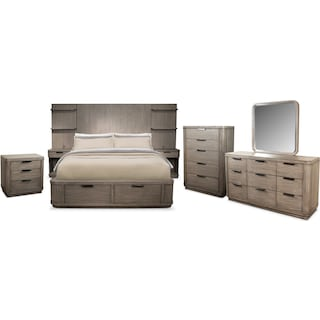 The Malibu Tall Storage Bedroom Collection - Gray