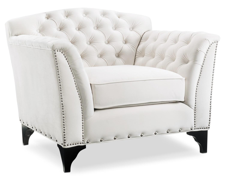 Living Room Furniture - Priscilla Accent Chair - White