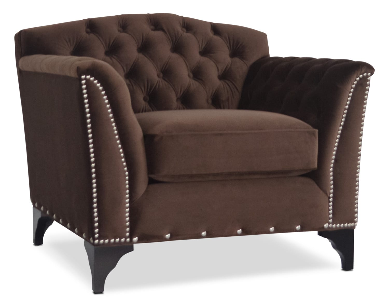 Priscilla Accent Chair - Brown