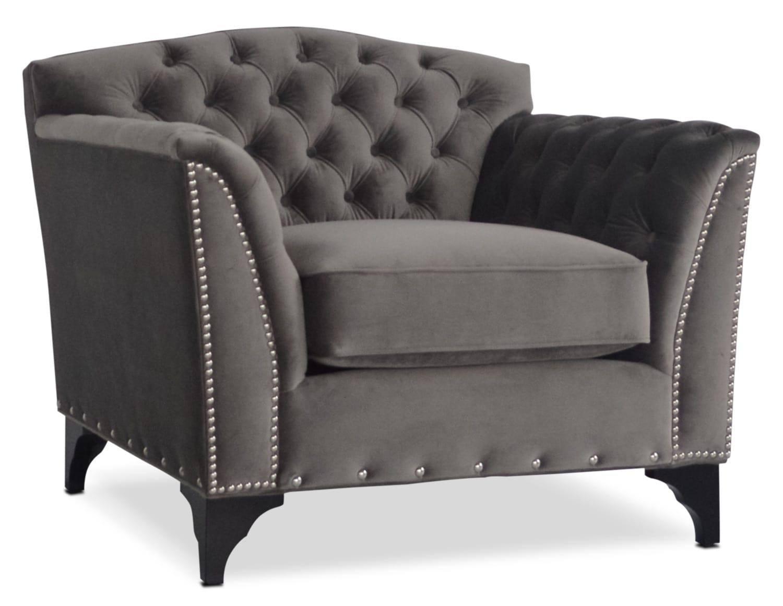 Priscilla Accent Chair - Gray