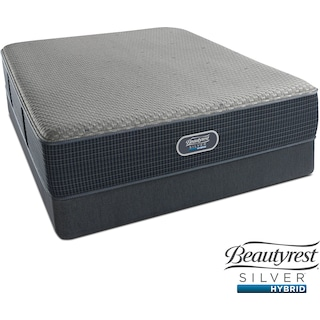 Siesta Key Plush Full Mattress and Low-Profile Foundation Set