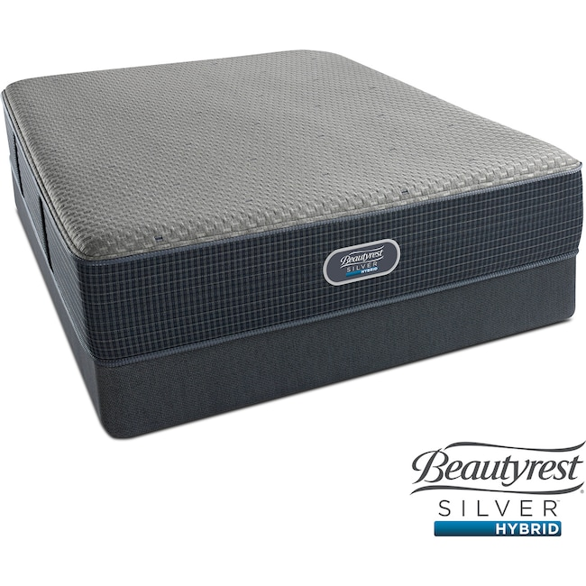 Mattresses and Bedding - Siesta Key Plush California King Mattress and Split Foundation Set