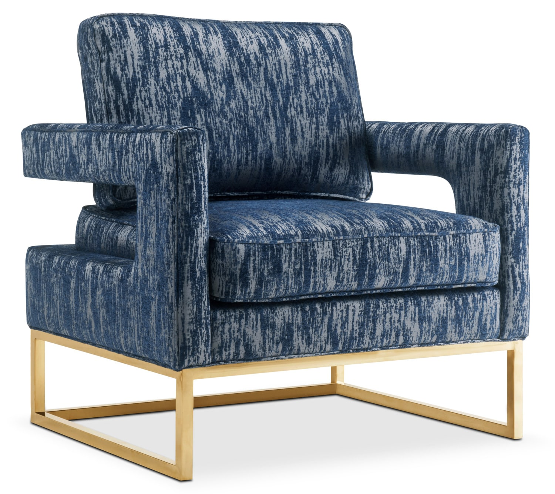 Levana Accent Chair - Blue