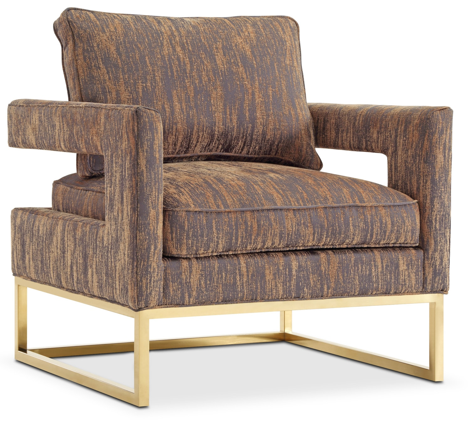Living Room Furniture - Levana Accent Chair - Gold