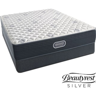 White River Extra Firm Full Mattress and Low-Profile Foundation Set