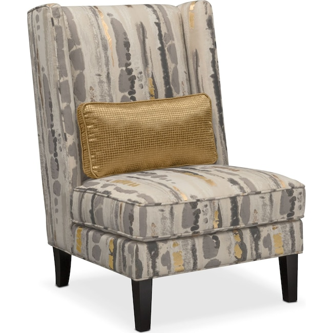 Living Room Furniture - Limelight Accent Chair- Pewter