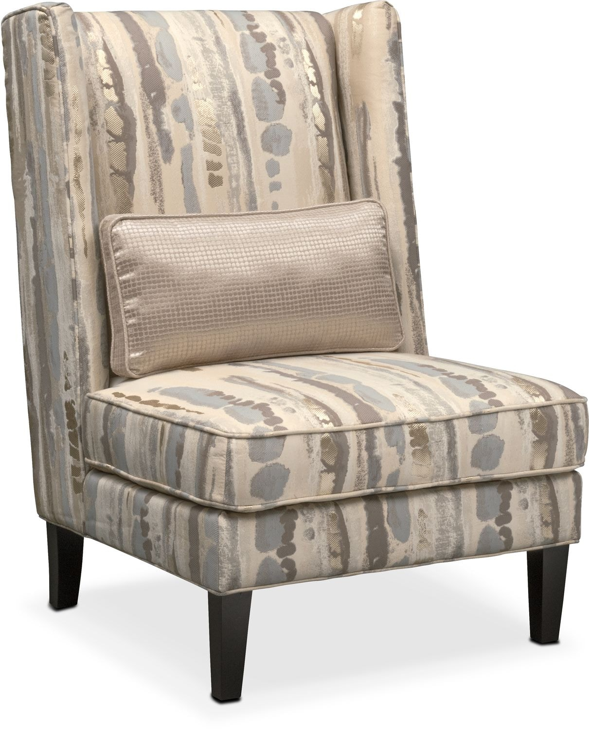 Accent Furniture For Living Room: Limelight Accent Chair- Platinum