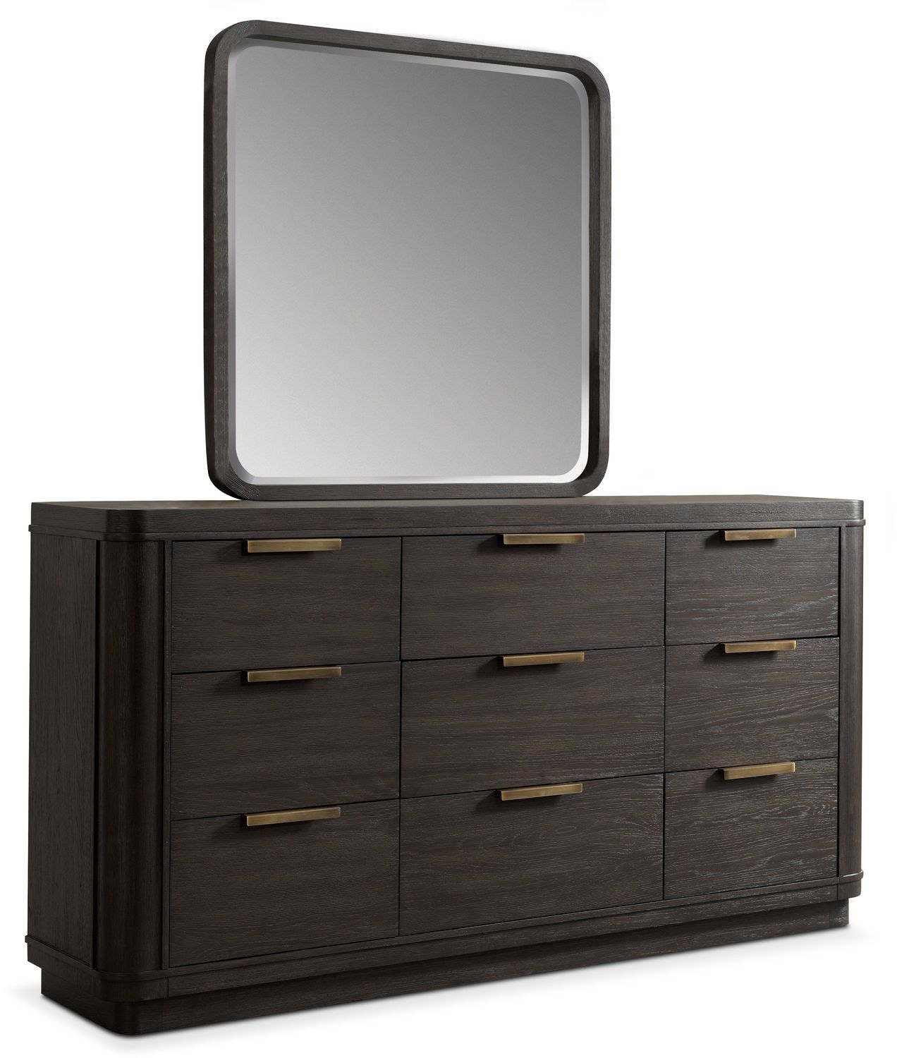 Malibu Dresser and Mirror - Umber