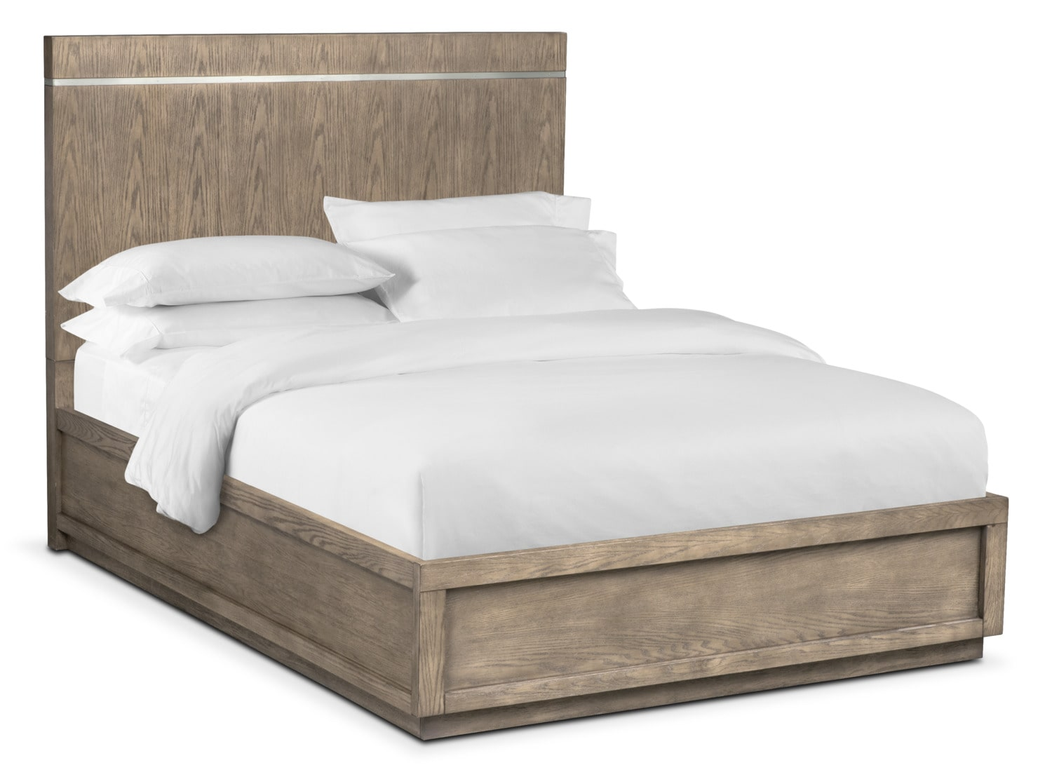 Gavin King Bed - Graystone