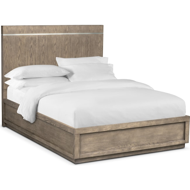 Bedroom Furniture - Gavin King Bed - Graystone