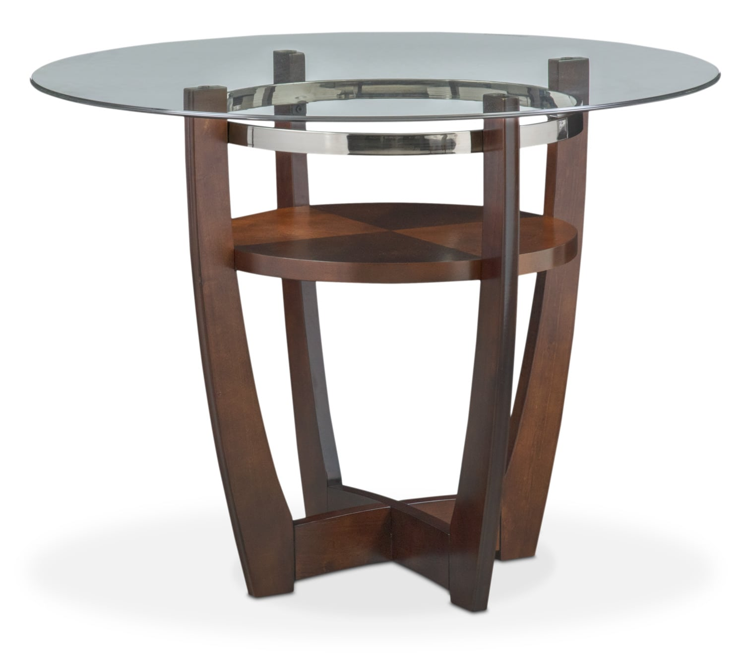 dining room counter height tables | Alcove Counter-Height Table - Merlot | Value City Furniture