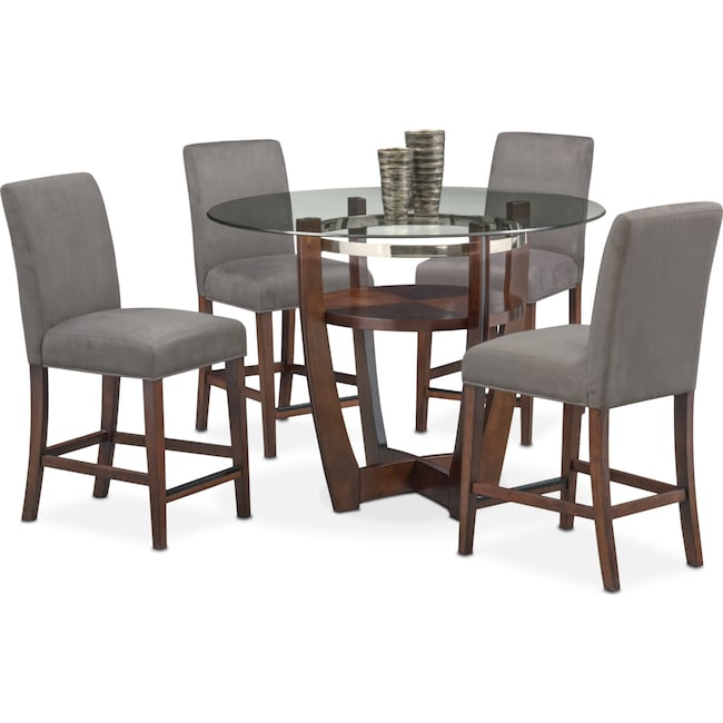Dining Furniture Outlet: Alcove Counter-Height Table And 4 Side Chairs