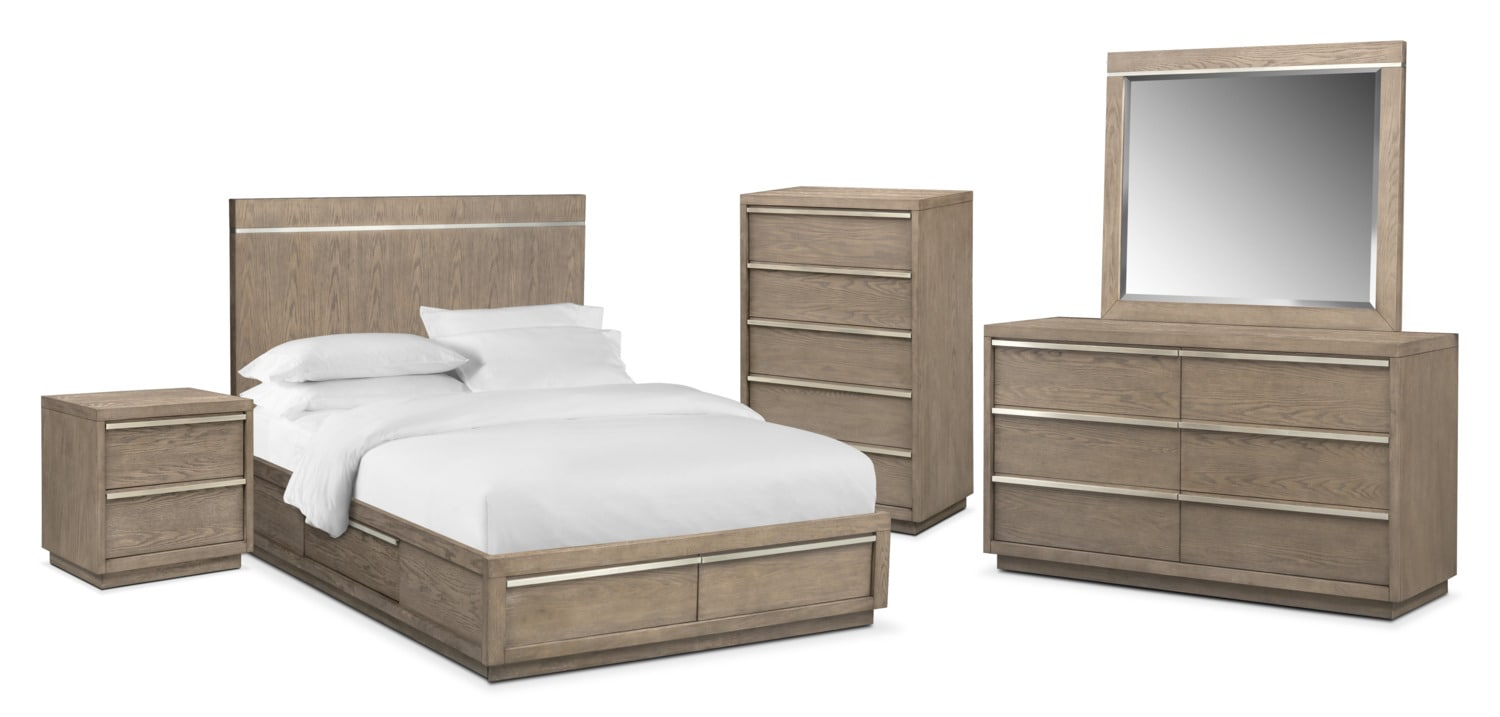 The Gavin Storage Bedroom Collection - Graystone