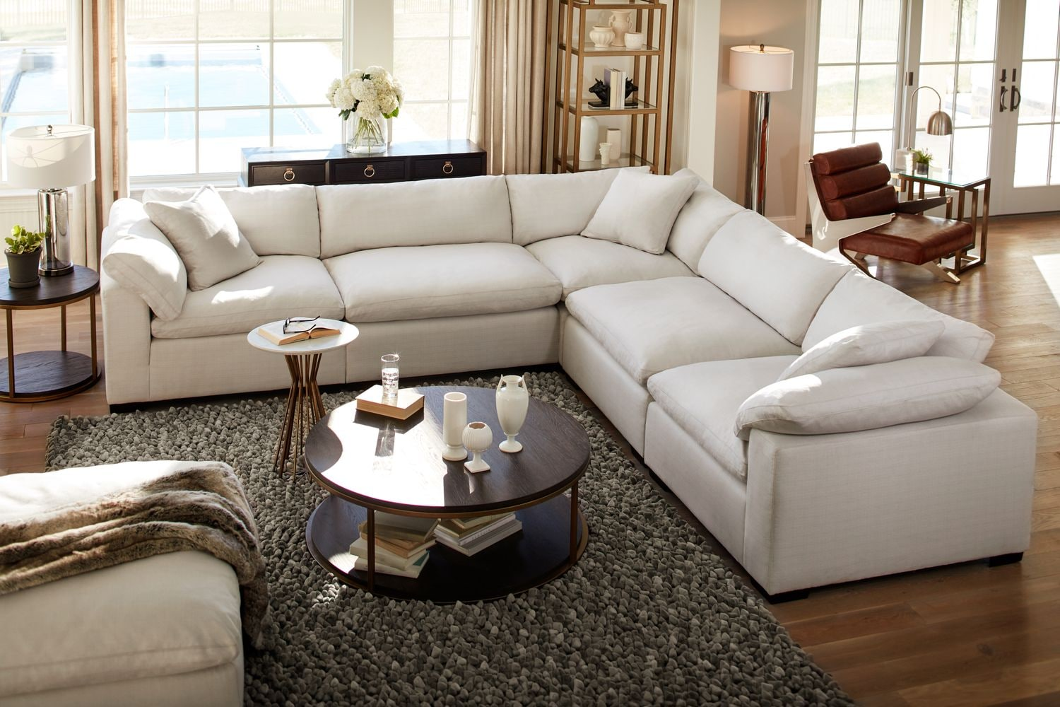 Plush 6 Piece Sectional Anders Ivory Value City
