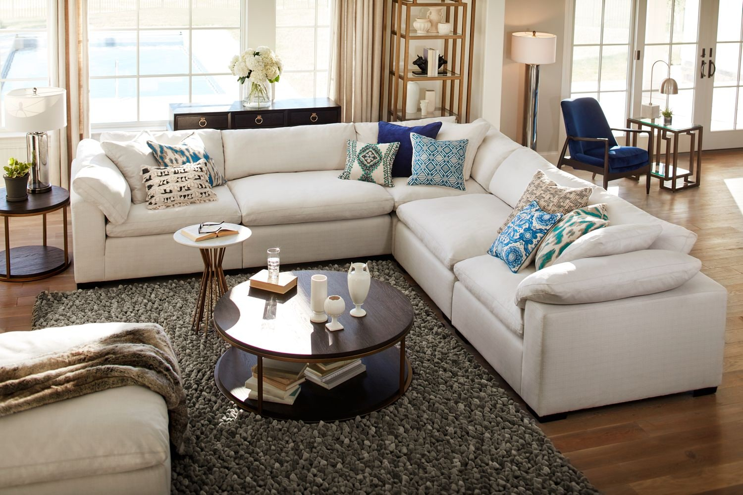 The Plush Sectional Collection - Anders Ivory : plush sectional sofa - Sectionals, Sofas & Couches